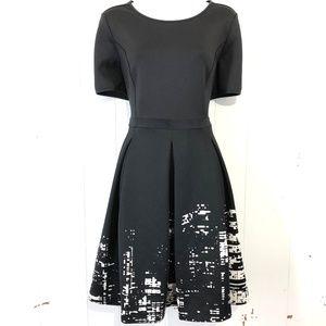 ELIE TAHARIDesign Nation Black Pleated Dress ~ 10